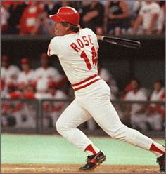 Pete Rose follows through on the swing that gave him 4,192 hits, one more than Ty Cobb for No. 1 on baseball's list. The historic single came on Sept.11,1985, at old Riverfront Stadium in Cincinnati. Since his banishment from baseball in 1989, Rose has been unable to gain admission to the Hall of Fame.