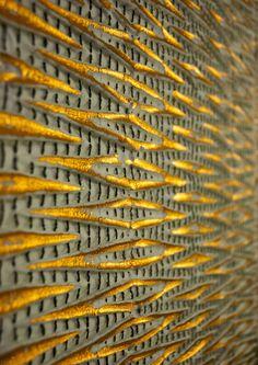 Reflection of the Sun, by ARTS THREAD member JOHANNA SAMUELSSON,  alumni THE SWEDISH SCHOOL OF TEXTILES, UNIVERSITY OF BORÅS, Fashion & Textile Design MA, exhibiting with us at DESIGNERSBLOCK for London Design Festival LDF 15 September 24-27 2015