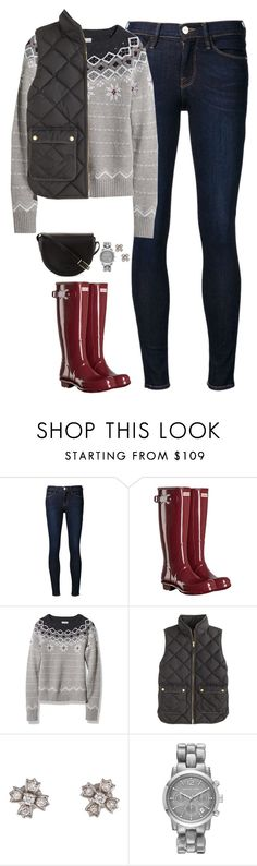 """""""L.L bean sweater, vest & Hunter boots"""" by steffiestaffie ❤ liked on Polyvore featuring Frame Denim, Hunter, L.L.Bean, J.Crew, Tiffany & Co., Michael Kors and Tory Burch"""