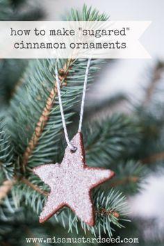 cinnamon ornaments -