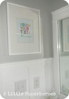 Wall art sign -- $187 Boys Bathroom Makeover.