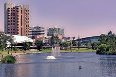 Image of fountain, adelaide, pink - 71700 City Photography, Landscape Photography, Advance Australia Fair, City Of Adelaide, Photoshop Effects, South Australia, Marina Bay Sands, Fountain, Graphics