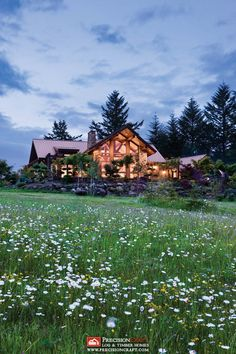 Beautiful Mountain Style Home I Washington Timber Frame Home I PrecisionCraft Luxury Log & Timber Homes