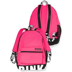 NWT Victoria's Secret Pink Padded Laptop Sleeve Backpack School Book... ($120) ❤ liked on Polyvore featuring bags, backpacks, tote handbags, victoria secret pink tote, tote bag backpack, tote backpack and pink tote bags