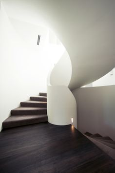 Ribbon Stair | Feature | Architecture | Design | Plaster | Spiral | Carpet | MDF | Geometric | Contrast | Amazing | Staircase