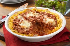 If you've never tried making a spaghetti pie before, this is the one to make! Easy, cheesy, meaty—and all but guaranteed to be a family favorite.