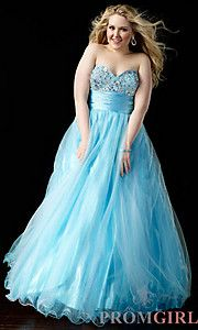 Buy Long Strapless Ball Gown at PromGirl