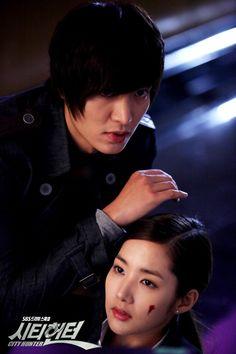 City Hunter (Korean Drama) - AsianWiki City Hunter, Best Love Stories, Love Story, Lee Min Ho Dramas, Nicky Larson, Joon Hyuk, Korean Drama Series, Kim Sang, Park Min Young