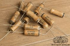 Vintage Repro Capacitor mfd uf 33 nF for Fender Telecaster Stratocaster and other electric Guitar, simply the best Capacitors for restauration and upgrade your Guitar Sound Fender Telecaster, Guitar Fender, Acoustic Guitar, Fendi, Guitar Shop, Custom Guitars, Vintage Guitars, Bass, Guitars