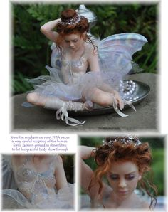 "Fairy Sculpture of Polymer Clay.  The amazing sculptor is Julie of ""Fairies in the Attic"".  One of A Kind Pieces."