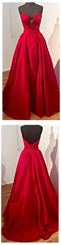 http://www.dressywomen.com/elegant-long-evening-prom-dress-red-taffeta-strapless.html Long Red Prom Gown, Red Prom Dress, Elegant Prom Dress, High Quality Prom Dress