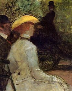 In the Bois de Boulogne - 1901 - PC. Henri de Toulouse-Lautrec.