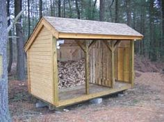 Firewood Storage Shed : Free Shed Plans Wood Shed Plans, Free Shed Plans, Firewood Shed, Firewood Storage, Wood Storage Sheds, Storage Shed Plans, Storage Ideas, Outdoor Spaces, Outdoor Living