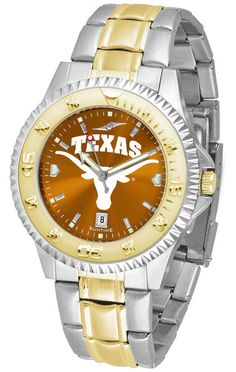 Texas Longhorns Competitor Two Tone Anochrome Watch