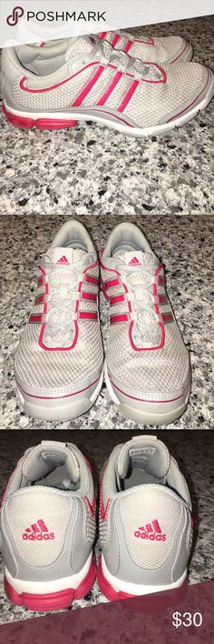 Adidas Arianna Trainer Running Shoes  Grey Red Adidas Arianna Trainer Running Shoes U41828 Grey Red Womens 6.5. Worn once! Mint Adidas Shoes Sneakers