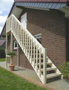 Exterior Stairs Making Previously Wasted Space Over Garage