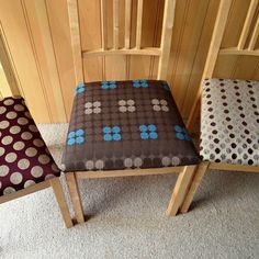 Reupholstered dining chairs. Similar commissions can be undertaken Starting from £15 per chair. #reupholstering #dining