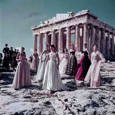 A beautiful throwback to when Christian Dior fell in love with Greece in 1951. Photo by Jean-Pierre Pedrazzini