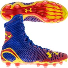 Scott just bought these for Chase- he loves them!  Under Armour Men's Highlight MC Alter Ego Superman Football Cleat