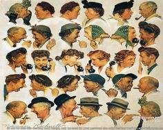 Wonder what he would have done with Facebook?! Love Norman Rockwell.