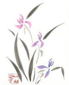 Greeting Card  Orchid 5x7 Blank Inside  by KelliMcNicholsArt, $3.50