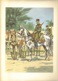 French;Régiment Étranger de Cavalerie (REC) c.1930 Military Art, Military History, Military Uniforms, French Armed Forces, French Foreign Legion, French Colonial, French History, French Empire, French Army