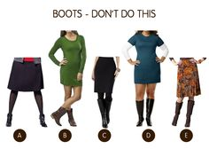 Dos and don'ts for wearing boots ( I didn't know some of these.)