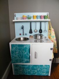 Play kitchen from Ikea parts
