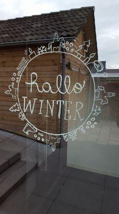 (Aangepaste) hallo winter #raamtekening door Nadieh B.