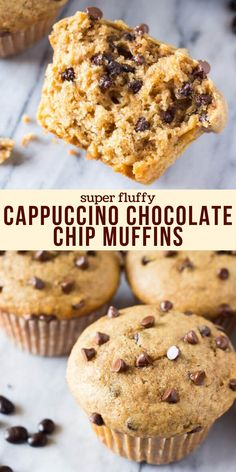 Best Chocolate Chip Muffins, Chocolate Chip Bread, Chocolate Coffee, Simple Muffin Recipe, Healthy Muffin Recipes, Coffee Muffins, Bakery Muffins, Homemade Muffins, Breakfast Bake