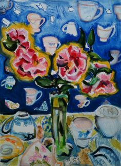 Regine Bartsch Fine Art Fine Art, Flowers, Painting, Outdoor Camping, Stars, Florals, Painting Art, Paintings, Painted Canvas