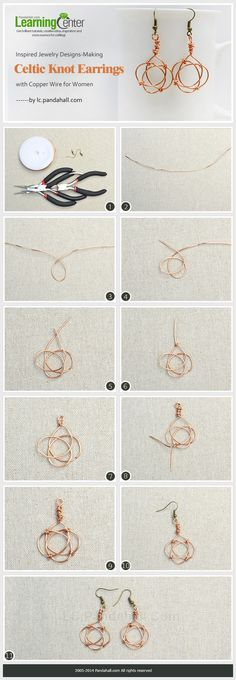 Inspired Jewelry Designs- Making Celtic Knot Earrings with Copper Wire for Women