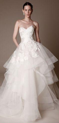 Amazing white wedding dress