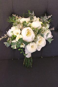messy peonies ranunculus roses wax flower freesia