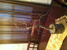 Jewelry tree made with wire hangers