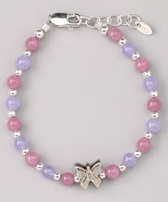Take a look at this Pink & Purple Jade Becca Bracelet by Tiny Treasures  on #zulily today!