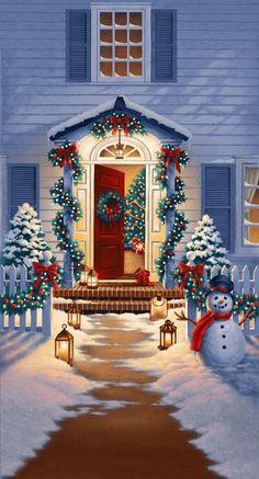 Merry Christmas Wallpaper, Christmas Artwork, Christmas Drawing, Christmas Paintings, Christmas Pictures, Christmas Phone Backgrounds, Christmas Scenery, Cozy Christmas, Beautiful Christmas