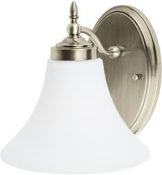 0-012114>Montreal 1-Light Energy Star Wall Sconce Antique Brushed Nickel