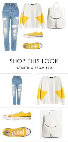"""spring"" by chloegreen-33 ❤ liked on Polyvore featuring River Island, Converse and Everlane"