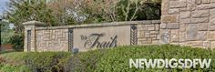 """The Trails in Frisco, """"Where life revolves around you"""". With prices ranging from $275k-$850k and square footage ranging from 1,800 to 5,000, this established neighborhood offers a variety of options for homebuyers. Amenities include two pools, tennis courts, a fishing pond, and parks. The community features one of DFW's premier golf clubs (Trails of Frisco Golf Club) which offers dramatic bunkering, scenic wetlands, and Champion greens. Ramiro Martinez / http://newdigsdfw.com/"""