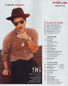 Bruno Mars na revista InStyle - Bruno Mars Latest News Bruno Mars New Album, Unorthodox Jukebox, Julie Bowen, Rocker Outfit, Tiny Prints, Instyle Magazine, Helen Mirren, Nicole Richie