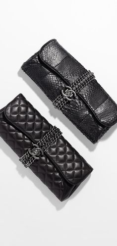 Lambskin evening clutch - CHANEL - handbags brands for women, leather purses handbags, handbags wholesale