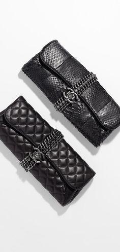 Lambskin evening clutch - CHANEL - handbags brands for women, leather purses handbags, handbags wholesale