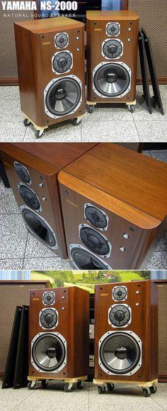 Yamaha Speakers, Yamaha Audio, Hifi Speakers, Best Speakers, Hifi Audio, Audio Vintage, Micro Hi Fi, Recorder Music, Record Players
