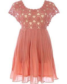 Crocheted Bodice Dress
