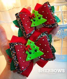 Christmas Yard Art, Christmas Hair Bows, Christmas Decorations, Diy Leather Bows, Diy Leather Earrings, Birthday Elf, Baby Hair Bows, Boutique Hair Bows, Making Hair Bows