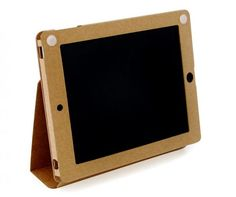 Clean iPad case made from recyclable cardboard