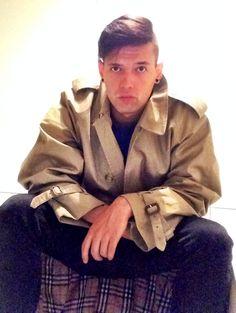 #Burberry (trench coat) #AlexanderMcQueen (T-Shirt)  #Gravis (Sneakers) #desigual (boxer-briefs)