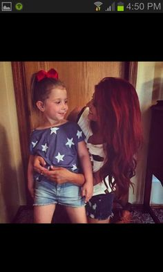 Aubree and Chelsea celebrating the of July early ♥ :) Burgendy Hair Color, Burgundy Hair, Wedding Hair Colors, Hair Wedding, Chelsea Deboer, Long Brown Hair, Black Hair, Long Hair, Hair Icon