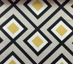 Cushion Cover / Pillow Cover / Throw Pillow / Decorative cushion / Slip Cover - this modern retro geometric fabric is designed and printed in Spain.
